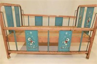 Metal Doll Crib w/Drop Sides