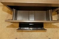 Brown 2 Drawer Filing Cabinet