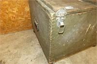 Wooden Storage Box on Wheels