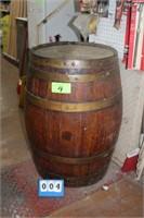 Vintage Wooden Whiskey Barrel,