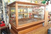 Vintage Wood & Glass 2-Door Display Case