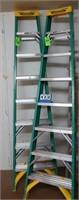 (2) Werner 8' Fiberglass Step Ladders