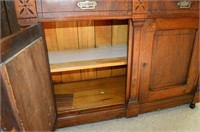 Antique Sideboard with Mirrored Back