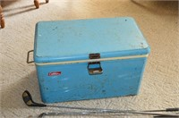 Coleman Cooler with Golf Clubs, Fishing Rod,