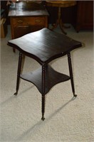 Lamp Table with Brass Class Feet