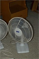 (2) Oscillating Table Fans