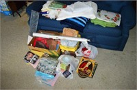 Grp, of Quilting and Craft Items, Blankets,