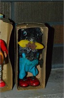 Grp, of Vintage Toys - Clowns, Outhouse, Sleepy