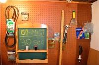 Contents of Basement Work Bench - Juicer,