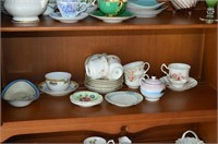 Contents of China Cabinet - Tea Cups and Saucers,