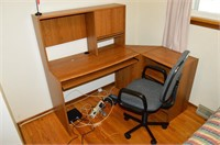 Corner Office Desk and Office Chair