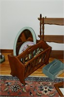 Grp, of Wooden What-Not Shelves, Magazine