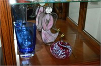Grp, of Figurines, Hummel, Art Glass, etc.
