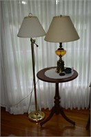 (2) Lamps and Lamp Table