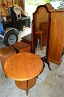 Dressing Mirror and Lamp Table
