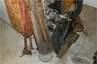Grp, of Old Pump and Lathe Parts, Jack, etc.