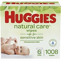 HUGGIES NATURAL WIPES 6 REFILL PACKS (1008 WIPES)
