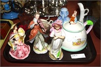 Figurines Including Peter Rabbit, Lefton, And Pink