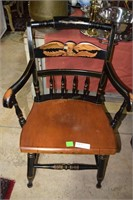 Hitchcock Arm Chair With Eagle Design