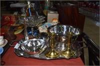 Highly Polished Silver Plate Including Pedestal Bo