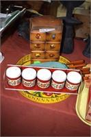 Vintage Kitchen Including Spice Tins, Bakeklite Kn