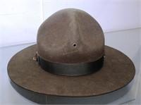 "Stetson 8"" Diameter Army Green Drill Sergeant Hat"
