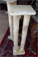 "2X$  - Double Column Ivory Pedestal Stands 38"" H X"