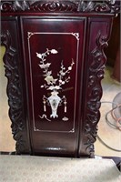 4X$ - Highly Carved Rosewood Throne Chairs With Fi