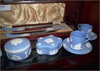 Wedgewood Jasperware Covered Boxes, Lighters, Asht
