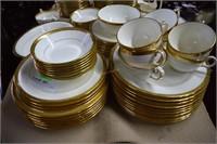 85+Pcs Minton Gold Accent Dinnerware Incl. Serving