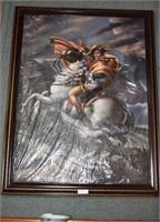 Framed Napoleon On Horseback Oil Enhanced Print 52