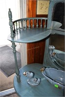 Victorian Style Open Shelf Dressing Vanity In Spec