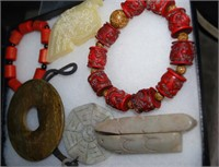 Asian Style Carved Stone Jewelry