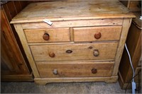 19Th Century New England Pine 2/2 Draw Chest In Na