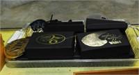 9 Nra Golden Eagle Belt Buckles - 7 In Box