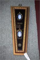 2 Framed Wedgewood Jasperware Medallions