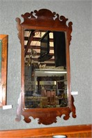 1900S Fret Work Cut Wall Mirror