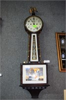 New Haven Banjo Clock With Ships Engaged In Battle