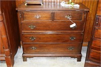 19Th Century Solid Mahogany Lift Top Card Table Ch