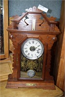 Walnut Gingerbread Clock With Integrated Key Winde