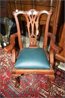 Carved Mahogany Child'S Armchair