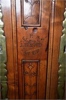 Restored French Armoire With Hand Carved Floral De