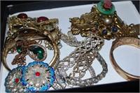 Vintage Costume Jewelry - Rhinestone & Enamel