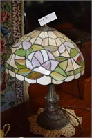 Custom Stained Glass Floral Table Lamp