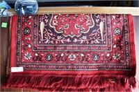 """Hand Woven 2'X3.5"""" Prayer Rug  Silk(?)"""