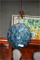 Spun Fiberglass Mid-Century Hanging Shade In Blue