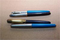 4 Sheaffer Pens: 3 Fountain & 1 Ballpoint