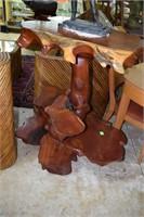 Custom Cedar Driftwood Multi Shelf Driftwood Table