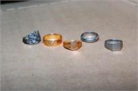 5 Rings Incl. 10Kt & 14Kt Ring