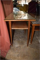 3 Pc. Inlaid Mid Century Coffee And End Table Set